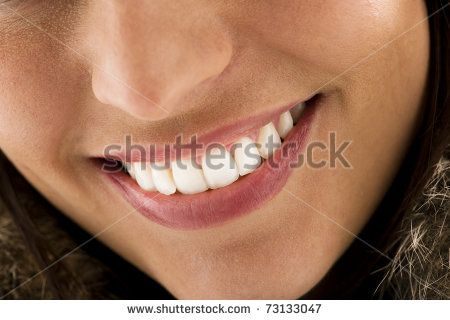 Close-up of a beautiful woman smile