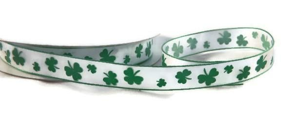 Shamrock - Printed Ribbon - 5 Yards