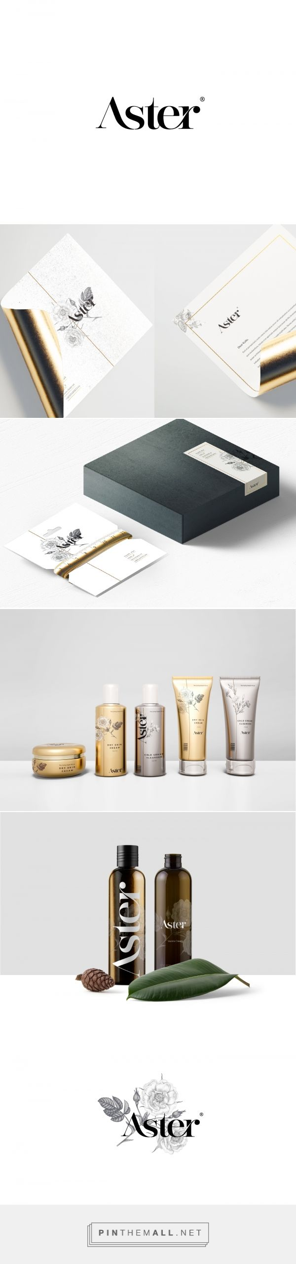 Aster Skin Care Branding and Packaging by Ibraheem Alshwihi | Fivestar Branding Agency – Design and Branding Agency & Curated Inspiration Gallery