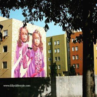 Bairro de Padre Cruz il museo di #streetart a cielo aperto di #lisbona…