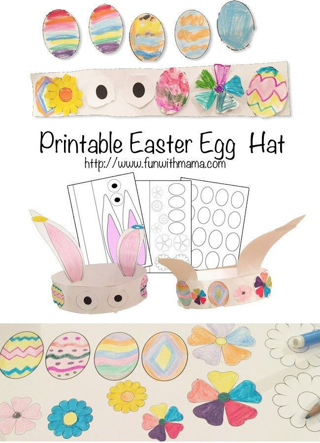 These easy and Fun Easter Crafts for toddlers, preschoolers, kindergarteners and elementary kids are great for working on creative skills. Kids Love this DIY Easter Bunny Hat!