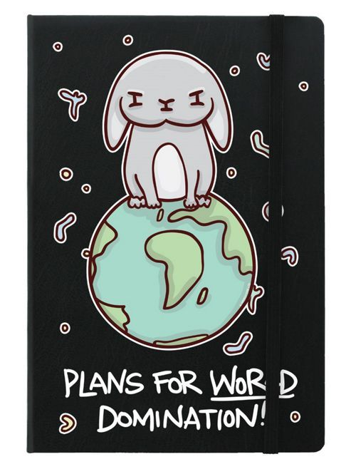 Plans For World Domination A5 Notebook | http://www.tesco.com/direct/plans-for-world-domination-a5-notebook/259-3694.prd?skuId=259-3694#