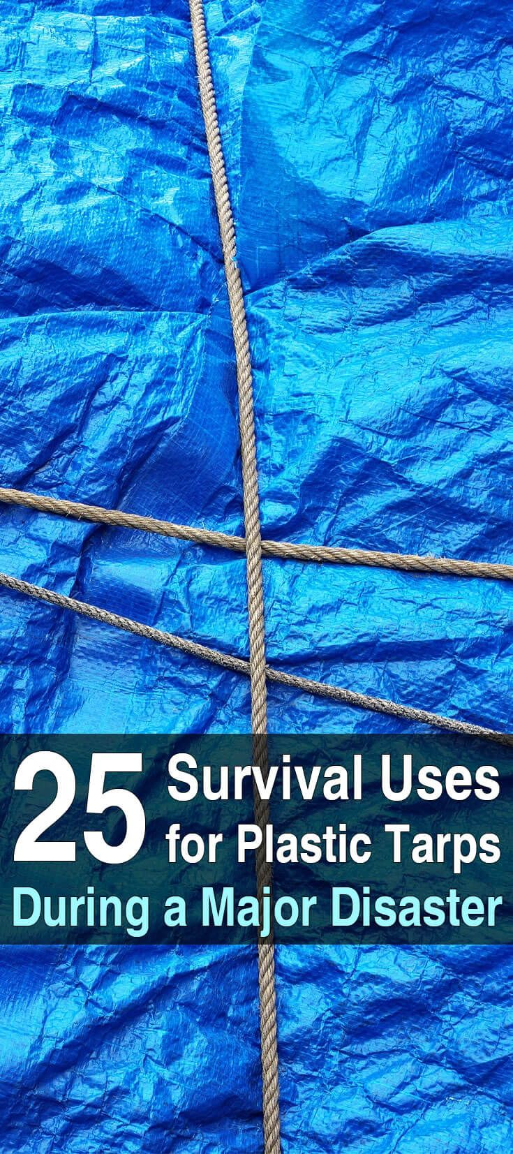 Tarps come in many sizes and varying qualities, but all of them can be very useful in a survival situation. Here are 25 survival uses.