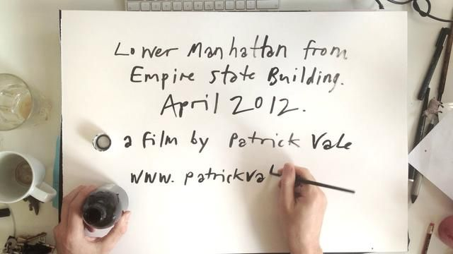 empire state of pen by patrick vale. time lapse of me drawing lower manhattan over a few days april 2012. no tracing, hocus pocus or photoshop filters. thanks to mr dom del torto at big animal for his input. oh and thanks to robin! music is moanin' by charles mingus.