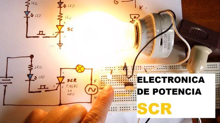 ✅ Prueba de SCR (Tiristor) encendiendo Bombillo y enclavar circuito.