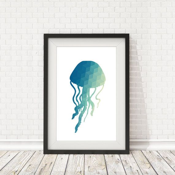 Jellyfish poster Jellyfish poster Jellyfish by BatLabPrintables