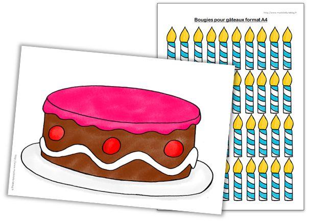 Cycle 1 - Jeux mathématiques - Le gâteau d'anniversaire - Journal de bord d'une instit' débutante