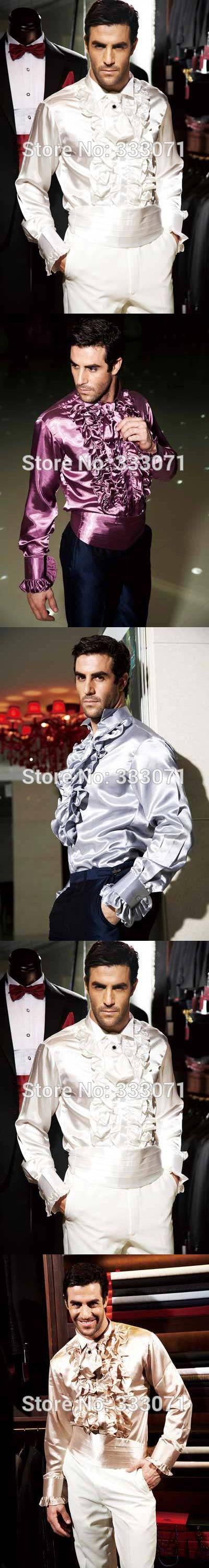 2017 Men Shirt Purple Blue Wedding Prom Groom Dress Gentle Shirts Performance Party Italian Shirt Camisa Masculina Chemise Homme