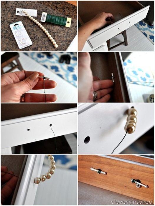 DIY Pearl Hardware (DIY drawer pull)