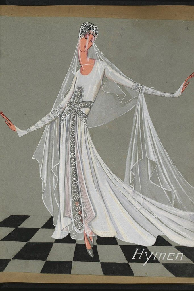 A 1927 Lanvin bridal gown. [Photo by Courtesy]