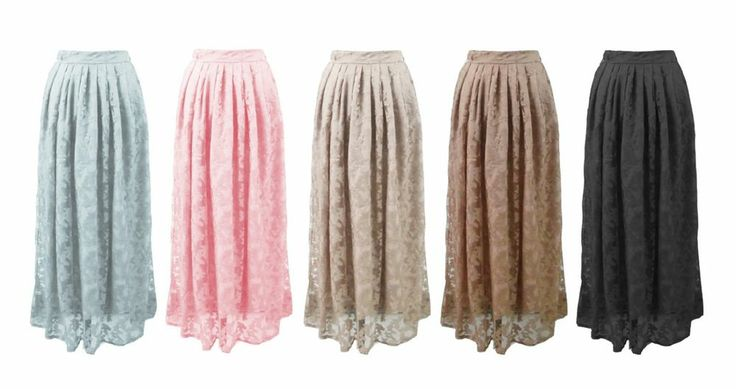 Muslimah Lace maxi skirt Islamic clothing long Butterfly print #Unbranded #Maxiskirt