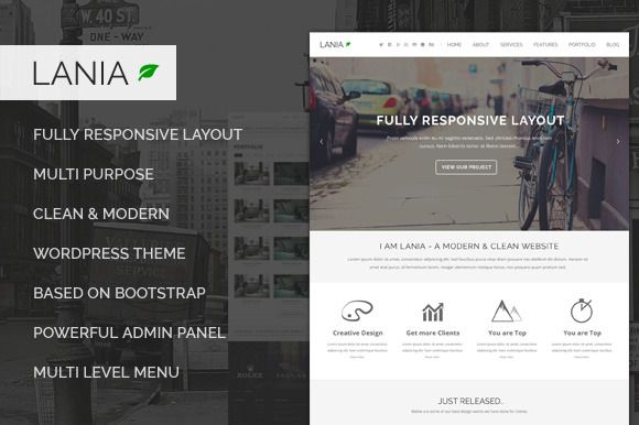 Check out Lania - Responsive WordPress Theme by templazavn on Creative Market