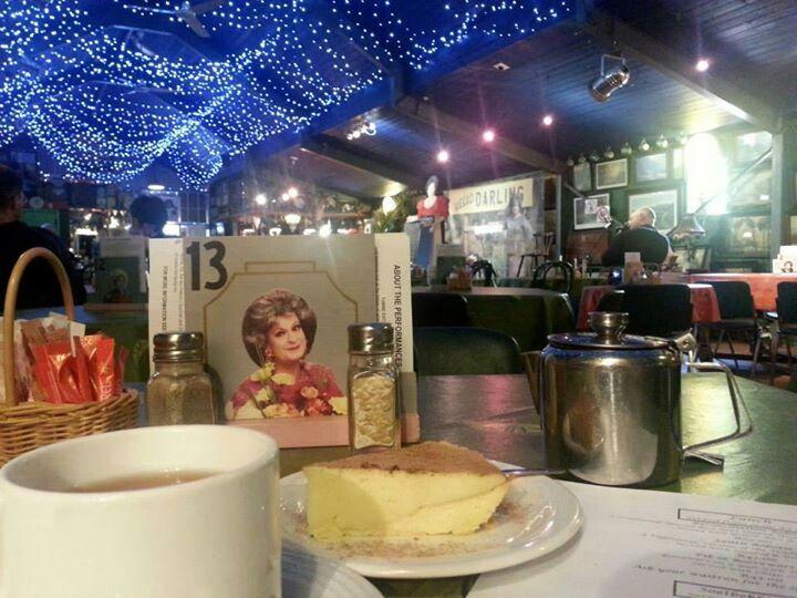 Eating 'Affirmative Tert' at Evita se Perron, Darling,  Western Cape,  South Africa