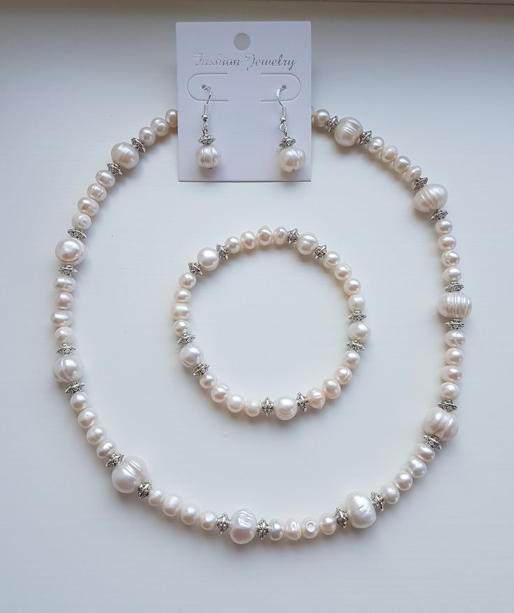 Freshwater pearls, pearls, necklace, bracelet, earrings, fit