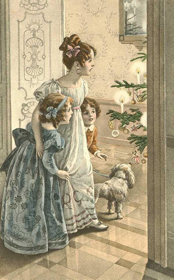 Открытки цветы, картинки ретро рождество