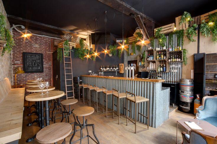 Comptoir en tôle - Brique - Sophomore - Bar à vin - Troquet - Paris - Baldini Architecture