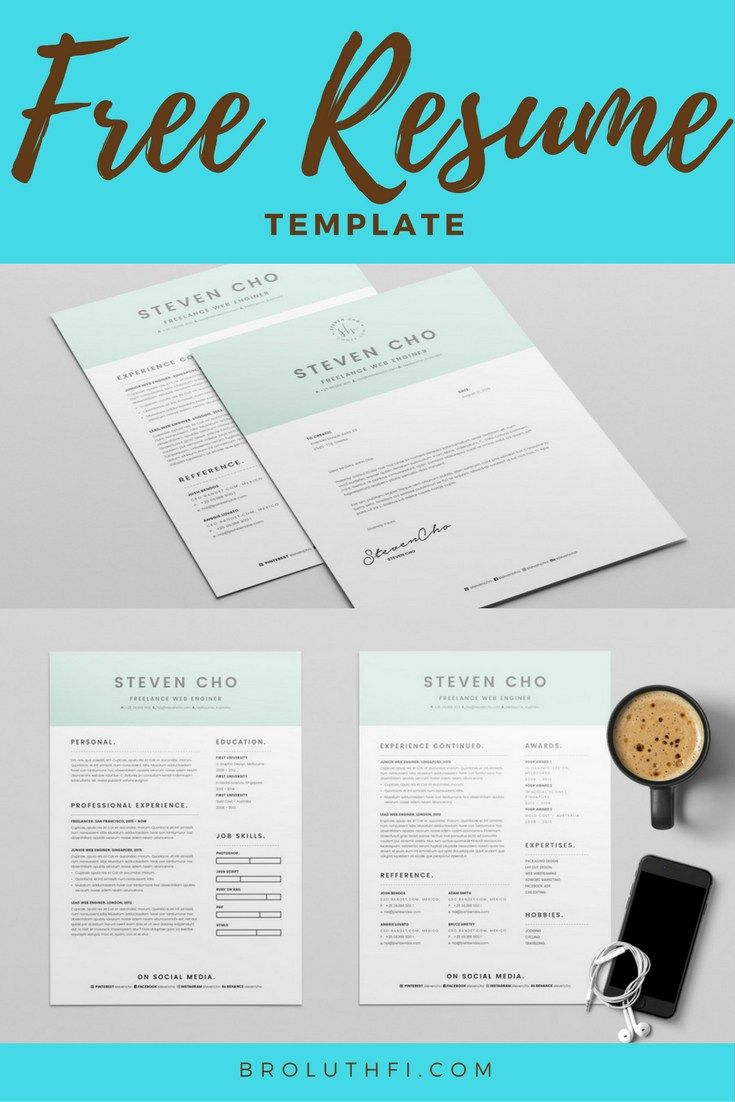 Free Minimalist Resume and Cover Letter by Broluthfi