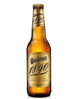 Cerveja Quilmes 1890, estilo Premium American Lager, produzida por Quinsa, Argentina. 5.4% ABV de álcool.