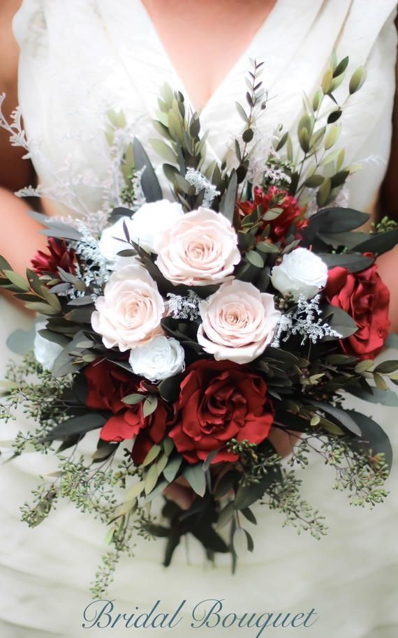 Burgundy Wedding Bouquet Blush Wedding Bouquet Dried Flower