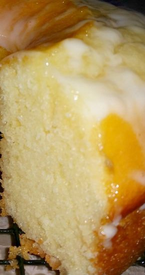 Easy Lemon 7-Up Cake ~ One of the most delicious cakes EVER... It is literally bursting with lemon!