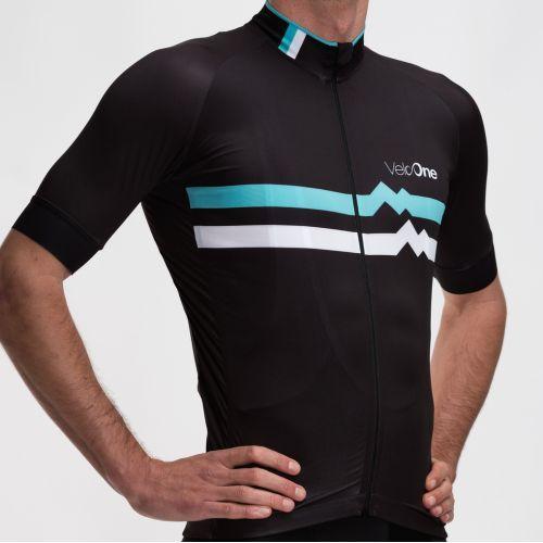 Men's Cycling Jersey - Heart Beat Celeste