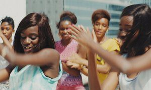 the film Girlhood (Assa Sylla and Karidja Touré at front).