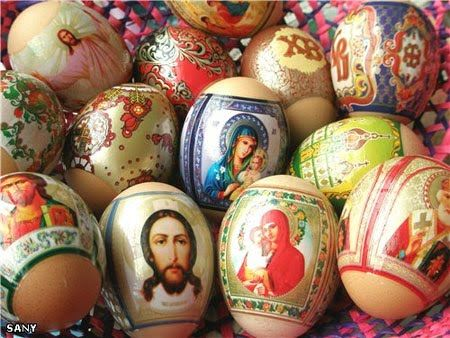Catholic Easter Eggs - Make your own version by printing the images and affixing with ModPodge.