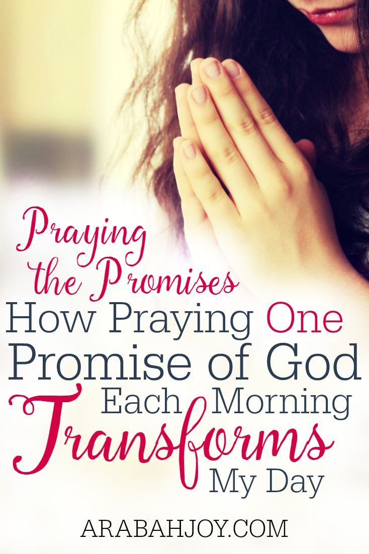 "About a year ago, I started a new spiritual discipline based on II Corinthians 1:20. Each morning, I tried to ""amen"" one promise from God's word. See how praying ONE promise each morning can transform your day too."