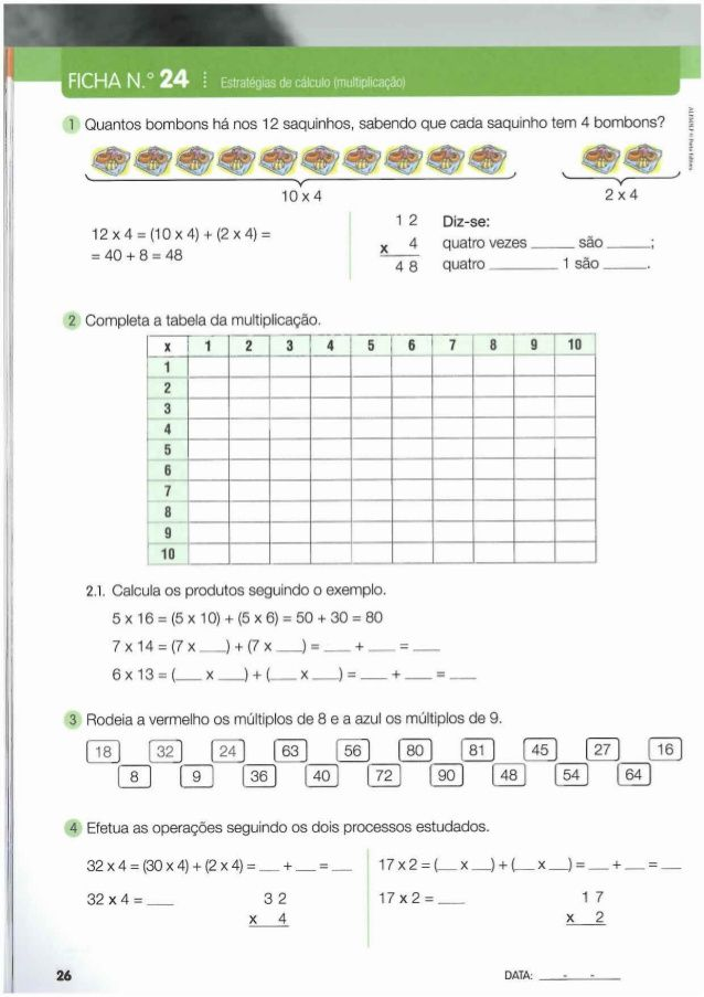 Livro de fichas de matemática 3º ano