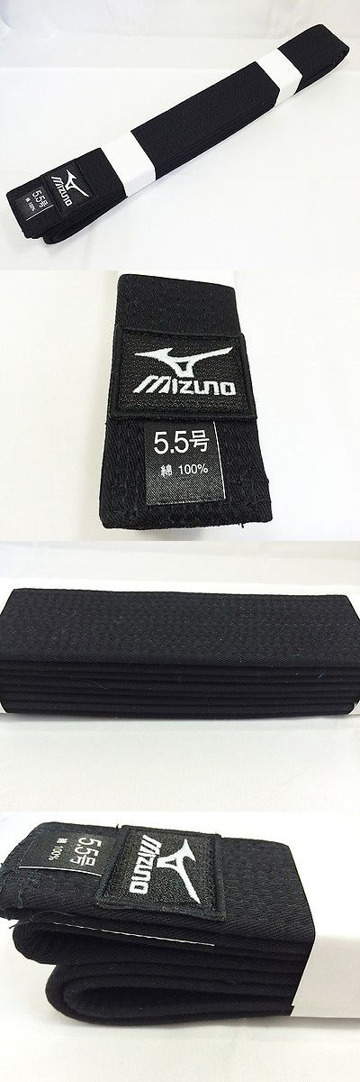 Belts and Sashes 73981: Mizuno Japan Judo Gi Kuro Obi Black Belt With Ijf Official Approval Model BUY IT NOW ONLY: $46.55