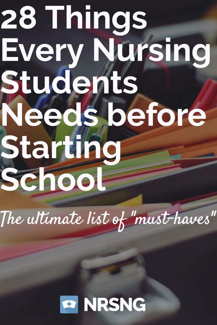 39 Things Every Nursing Student Needs before