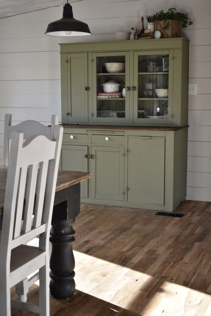 Farmhouse Style Cupboard Makeover www.flatcreekfarmhouse.com