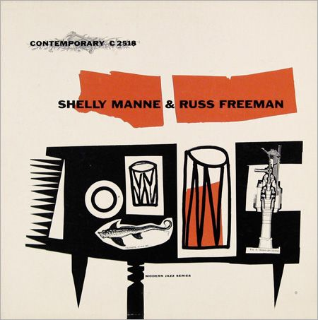 Shelly Manne, 1954.  Design by Catharine Heerman Illustration by Irene Trivas