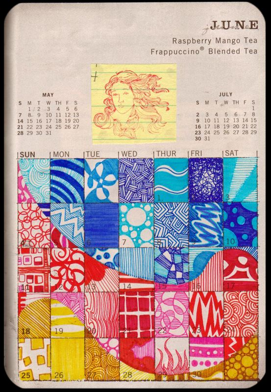 Oh boy...now I want to do this to an old calendar page. Or make it into a daily warm up for the kiddos - one square per day?