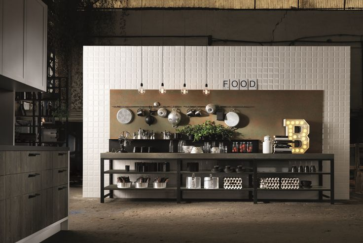 FACTORY Kitchen with island Factory Collection by Aster Cucine design Lorenzo Granocchia