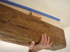 Installing Faux Wood Ceiling Beams | Basic Guide with Photos