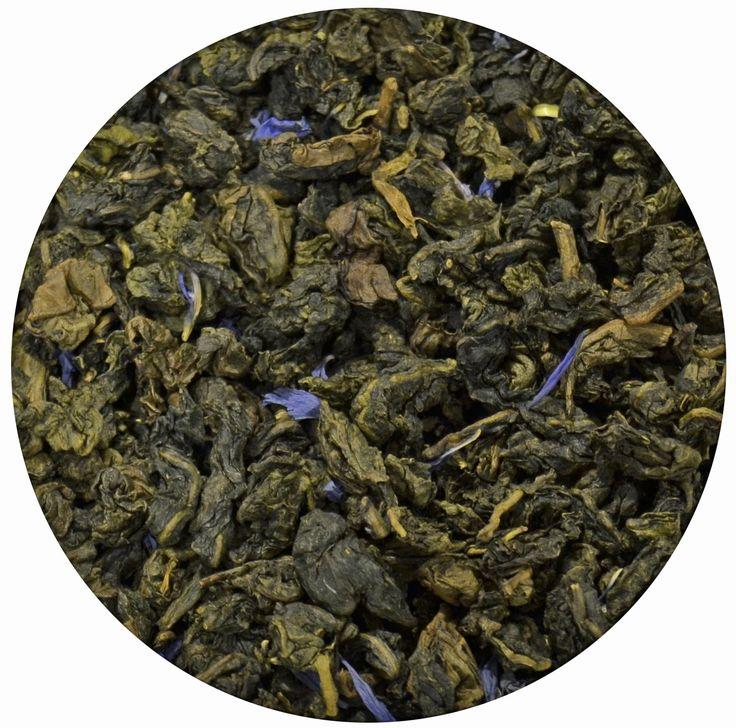 """""""Té Azul Milky Oolong"""", té semifermentado con sabor cremoso natural producido por el descenso brusco de la temperatura y la caricia de las flores. 12€/100gr"""