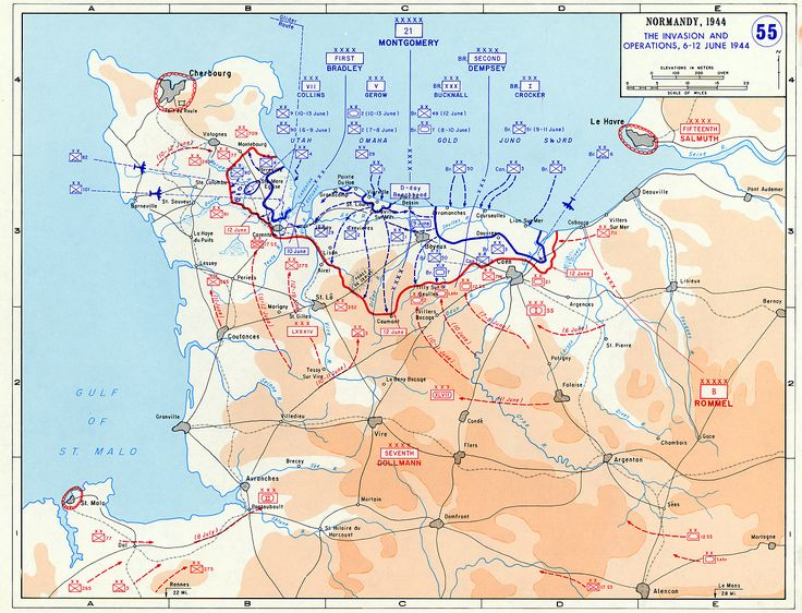 d day map pictures