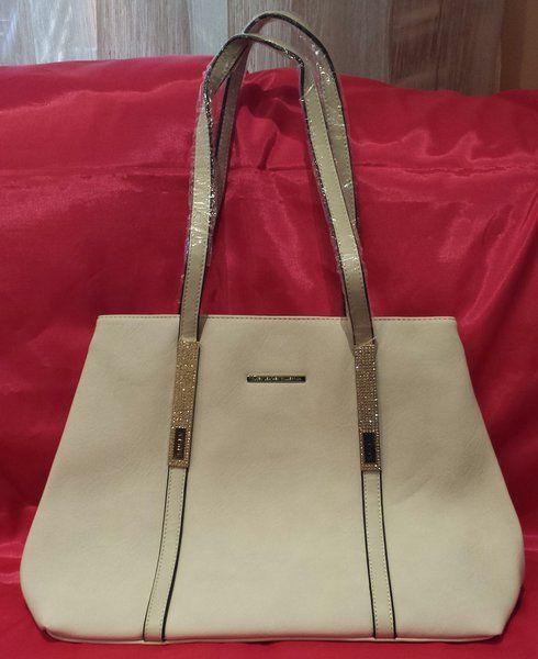Susen Genuine Leather Handbag with Diamantes