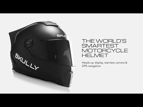 SKULLY AR-1: Rebel Innovation. Heads-up display, rearview camera, & GPS navigation.