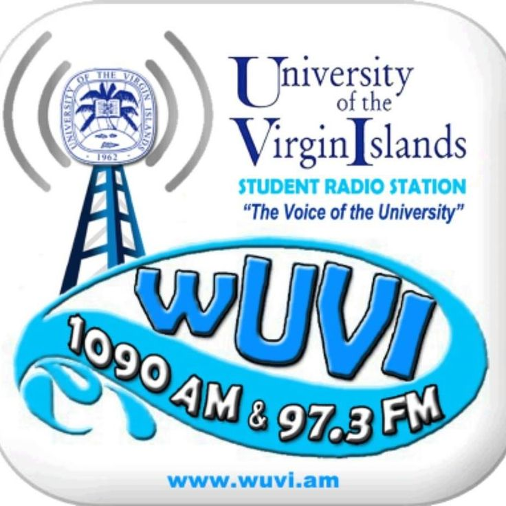 "WUVI AM 1090/97.3 FM* Student Radio Station of the Virgin Islands! ""The Voice of the University!"" With stations on both St. Thomas (STT) and St. Croix (STX) campuses, we are training tomorrow's broadcast personalities, engineers, and owners. Listen in live and support the growth of our students! ON AIR NUMBER: 340-643-1090"