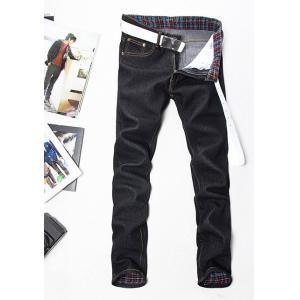 Vaqueros rectos hombre de moda pantalones delgados €11.99