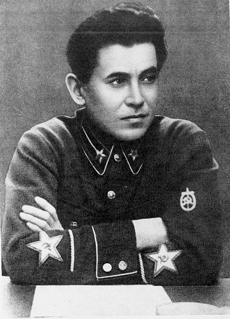 Nikolai Yezhov, General Commissar of State Security (1936-40). An early Bolshevik, Yezhov climbed quickly to senior level; as NKVD chief he was responsible for the wave of repression that led to the Purges of the late 1930s. His increasing power led to his own purging on April 10, 1939, when he was arrested and charged with conspiracy to overthrow the communist state. He was shot on Feb 3, 1940 and his body cremated.