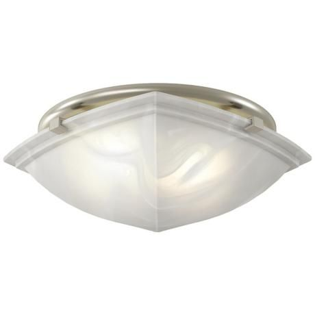classic square brushed nickel bathroom fan with light