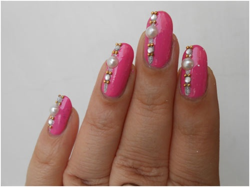 Wedding Nails – Stunning Wedding Day Nail Art Tutorial..........i think its cool art, but not sure if i'd ever want that on my hands....