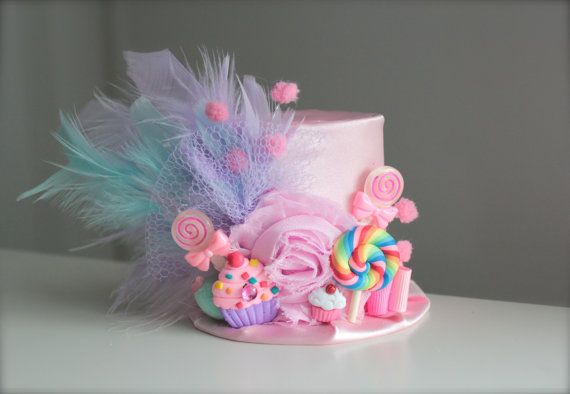 Welcome to Lil Tutu Divas where all items are handmade with TLC by me    Having a Candyland themed party or photo shoot them this little hat is a