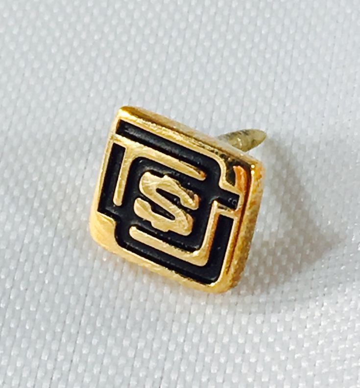 Vintage OC Tanner 10k Yellow Gold Employee Award Pin Featuring Original Dollar Sign Monogramed Design by ClevelandFinds on Etsy
