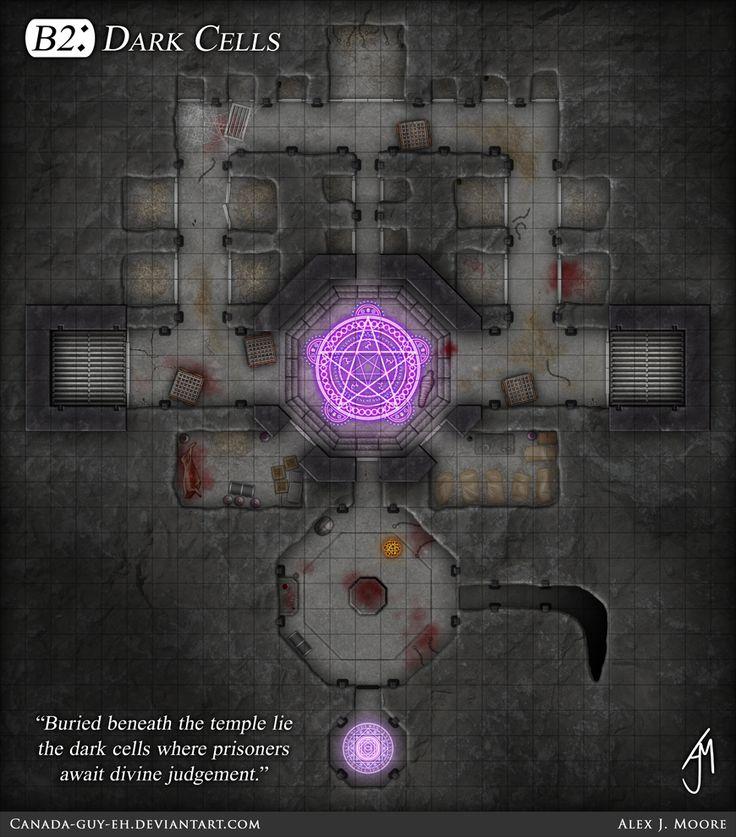 Drow Temple - B2: Dark Cells by Canada-Guy-Eh.deviantart.com on @deviantART