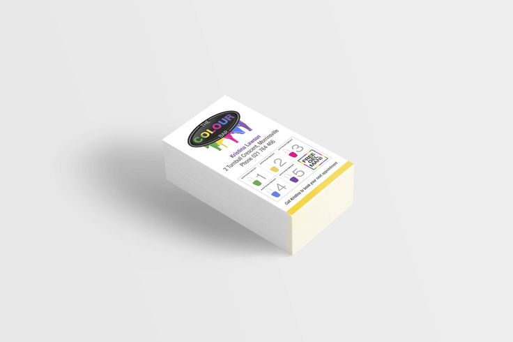 The Colour Bar Business Cards designed by Imagine If Creative Studios