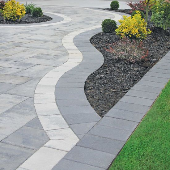 25 best ideas about driveways on pinterest cobblestone for Paving stone garden designs
